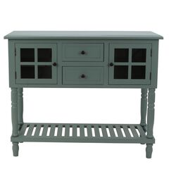 Antique Iced Blue Buffet Condole by J. Hunt, ICED BLUE