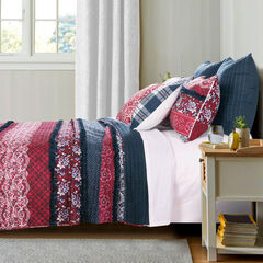 Monroe Quilt Set by Barefoot Bungalow, BLUE
