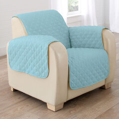 BH Studio Water-Repellent Microfiber Chair Protector, LIGHT BLUE