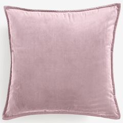 "BH Studio 20""Sq. Velvet Pillow Cover, BLUSH"