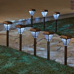 Bronze Solar Lights, Set of 8, BRONZE