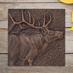 """Elk 8"""" x 8"""" Indoor Outdoor Wall Décor,"""
