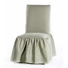Ruffled Dining Chair Slipcover by Classic Slip Covers, Inc., GREEN