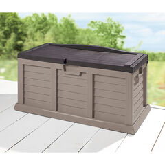 80-Gallon Rolling Deck Box, TAN