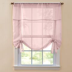 BH Studio Sheer Voile Tie-Up Shade, PALE ROSE