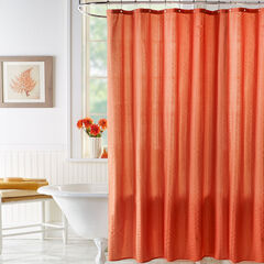 BH Studio Textured Shower Curtain, CAYENNE