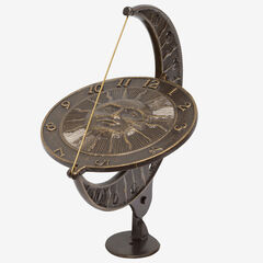 Sun and Moon Dial, FRENCH BRONZE