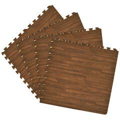 """Interlocking Foam 24"""" x 24"""" Anti Fatigue Floor Tiles 4 tiles/16 Sq. Ft., WALNUT"""