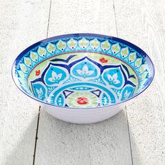 Blue Casab Round Serving Bowl,