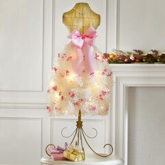 Pre-Lit Mannequin Tree, PINK