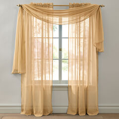 BH Studio Crushed Voile Scarf Valance, AMBER