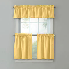 BH Studio Cotton Canvas Tier Set with Valance, YELLOW