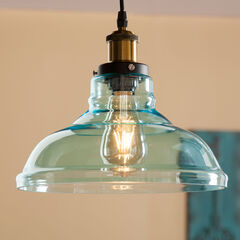 Colored Glass Dreamy Bell-Shaped Pendant Lamp,