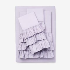 Ruffle Microfiber Sheet Set, GRAY