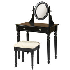 Lorraine Vanity Set, BLACK
