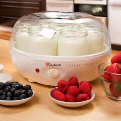 Euro Cuisine Electric Yogurt Maker with 7 Glass Jars,