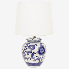 Blue Flower Table Lamp,