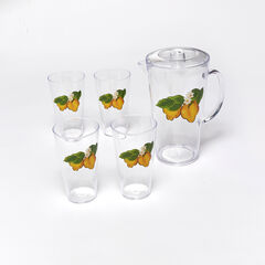 6-Pc. Lemon Drinkware Set, YELLOW