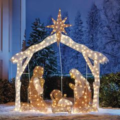 Crystal Splendor Outdoor Nativity Scene , NATIVITY SCENE