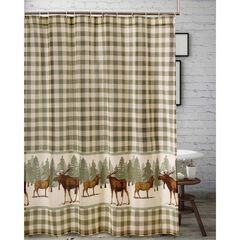 Moose Creek Shower Curtain by Greenland Home Fashions, MULTI