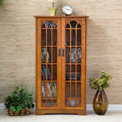 Window Pane Media Cabinet,