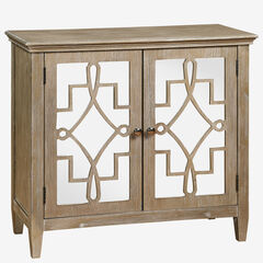Lucy Accent Chest With Mirrored Doors,