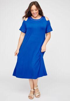 AnyWear Diamond-Stitch Midi Dress,