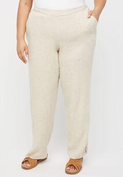 Linen Blend Pull-On Pant,