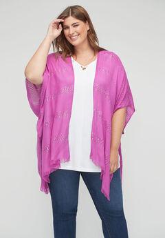 Sequin Stripe Kimono,