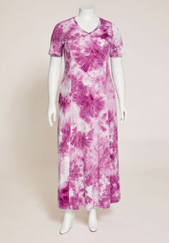 Lakeport Tie-Dye Maxi Dress (With Pockets),