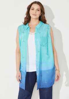 Bright Side Buttonfront Tunic,