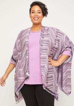 Rosedale Zig Zag Fringe Kimono,