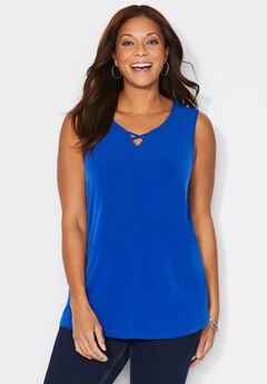 Crisscross Timeless Tunic Tank,