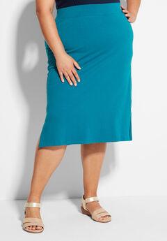 Suprema Midi Skirt, DEEP LAGOON