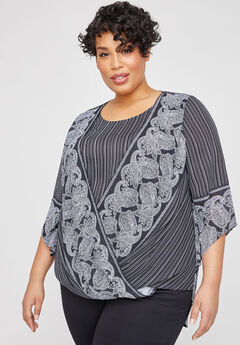 Riverbend Georgette Duet Top,