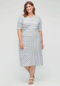 Lakeside Striped Shift Dress,