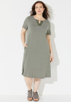 Daylight Stripe A-Line Dress (With Pockets),