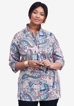 A-Line Poplin Shirt,