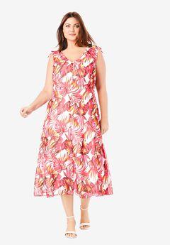 Floral A-Line Dress,