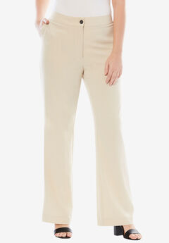 Boot Cut Bi-Stretch Pants, LIGHT SAND