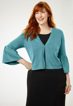 Bell Sleeve Sweater Shrug,