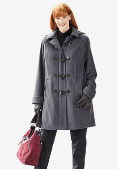 The Tailored Toggle Coat, HEATHER CHARCOAL