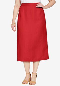 Linen-Blend Skirt,