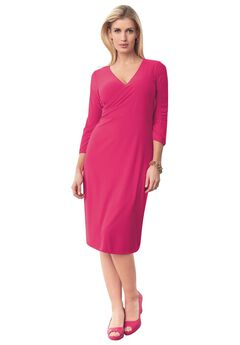 Surplice Knit Dress,