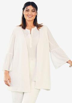 Cardigan Vest, WHITE