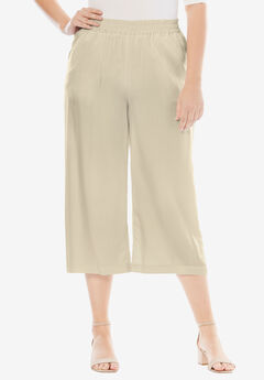 Tencel® Wide Leg Pants, LIGHT SAND