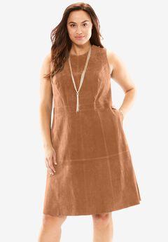 A-Line Suede Dress,