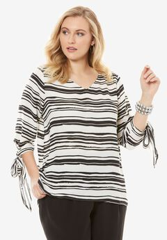 Deep V-Neck Blouse,