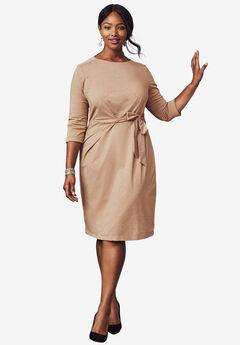 Lurex Fit & Flare Dress, SPARKLING CHAMPAGNE