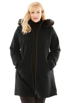 Faux Fur Hood Coat,